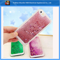 Luxury Bling Glitter Liquid Floating Star Quicksand Phone Case for iphone 5 6s 6plus