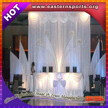 Pipe stands chiffon drape for wedding decoration