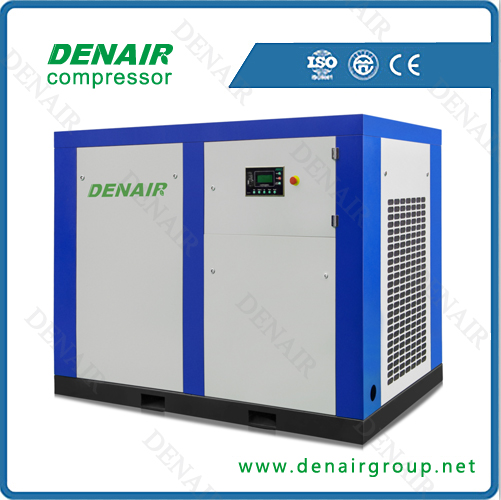 75kw 100hp variable frequency rotary screw air compressor with CE certificated