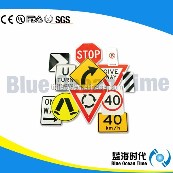 Plastic Warning Traffic Sign Board for Road Safety