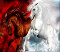 white and red horse 5d diamond painting embroidery,crystal diamond painting kit chinese manufacturer diamond painting