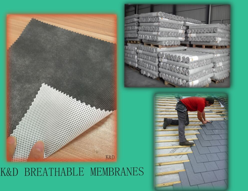 PP fabric laminated waterproof mositure vapor barrier for roofing underlay