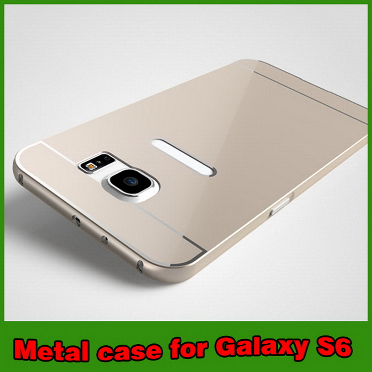 High quality manufacture leather back cover for samsung s6