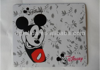 Cartoon PVC mouse pad with EVA/rubber backing for promotion
