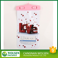 2016 wholesale cheap customized pvc bag , waterproof PVC zip lock pouch for iphone