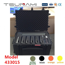 Tsunami durable hard case plastic Tool Box for dexter tools with foam