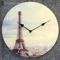 clear glass wall clock custom made wall clock wall glass painting clock