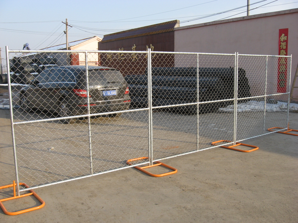 Construction portable wire mesh fences/ mobile guard chain link fencing panel/portable diamond panel fences