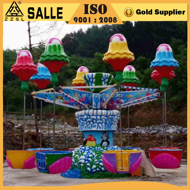 sweet jelly color design kids amusement mini size 16 seats happy jellyfish ride for sale