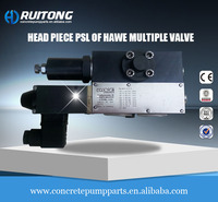 original head piece PSL of Hawe multiple valve Zoomlion concrete pump truck concrete machinery parts