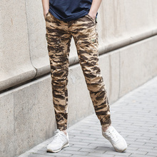 wholesale new fashion mens slim fit trousers cargo pants for men