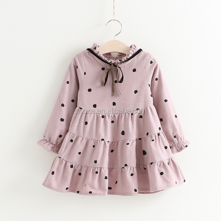 C23483B wholesale new autumn children dresses kids dresses