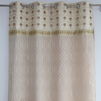 Hotsale container home window jacquard valance curtains with pattern
