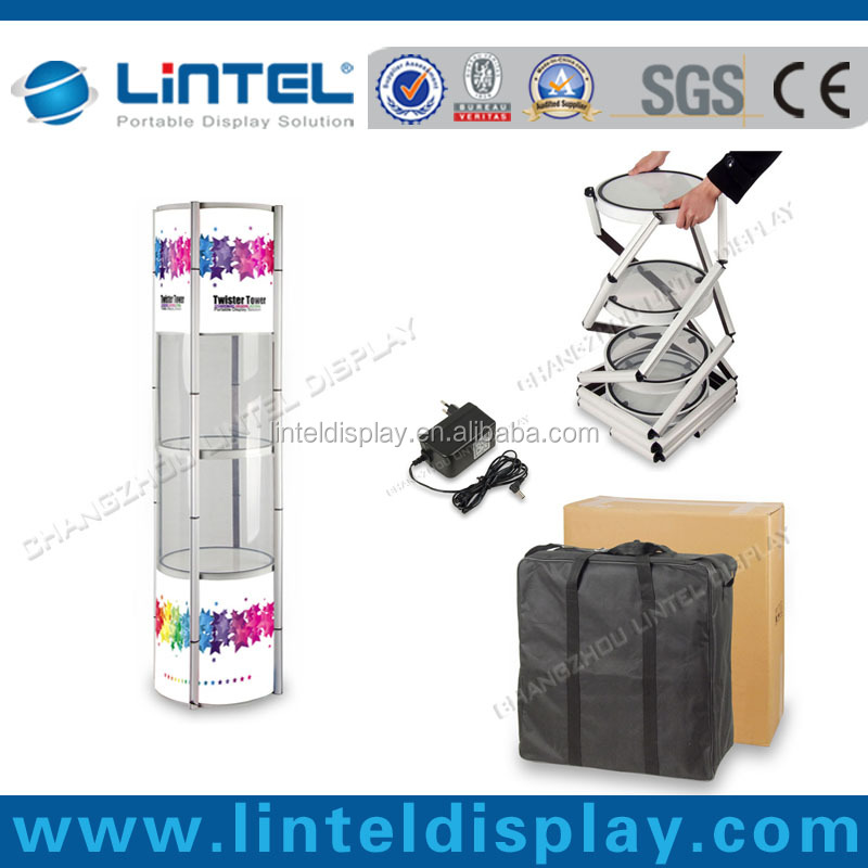 aluminum cardboard folding standee display