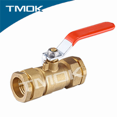 TMOK wholesale forged industrial or family use 25mm brass ball valve with equal shape