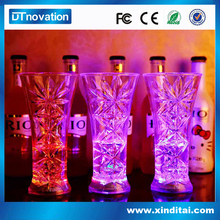 flashing light glasses promotional water activated led glass