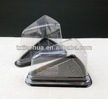 clear PET/PVC triangle shaped sandwich packing box