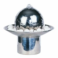 Table top water fountain ornament stainless steel water features indoor ball water fountain for garden
