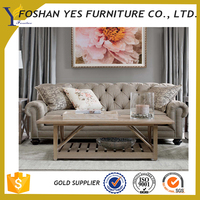 New classical with carved wooden hotel lobby sofa