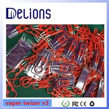2016 Top Quality Factory Price vape tool vaper twizer V3 newest ceramic vape twizer V3 with factory price in stock by Delions