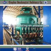 Steel Pipe Descaling Shot Blasting Machinery with lower investment and maintenance cost