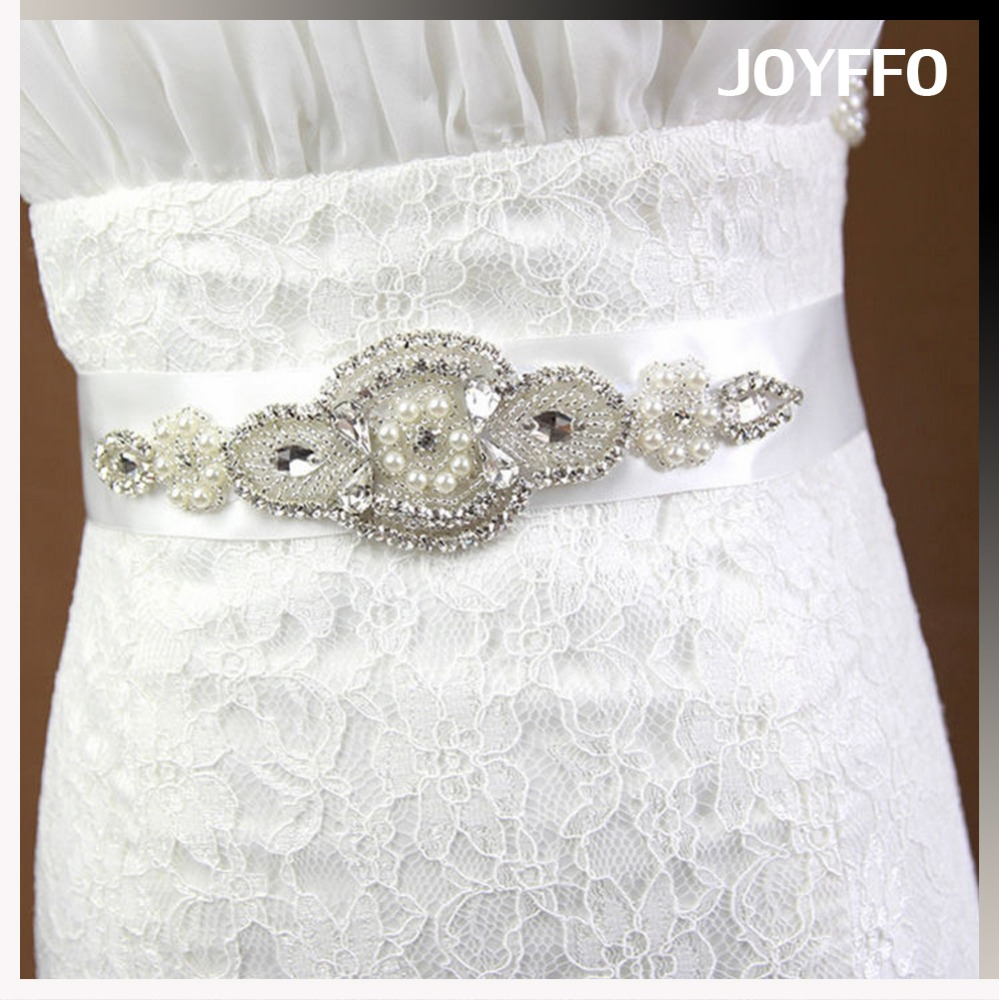 Bridal gown belt high-grade pure manual waistband European and American romantic wedding dress accessories