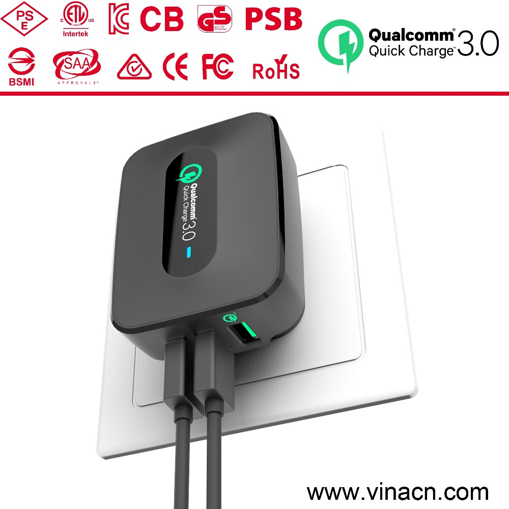 qc 3.0 mobile phone charger for samsung,qc 3.0 qualcomm charger wall travel charging universal usb adapter ,most profitable prod