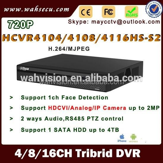 Resale dahua HCVR4104HS-S2 720P P2P CCTV 3 in 1 DVR 4channel hdcvi dvr in australia sale