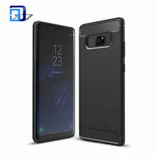 2017 Brand New High quality Carbon Fiber Texture Brush Phone Case TPU Bumper Cover Case For Samsung Galaxy Note 8