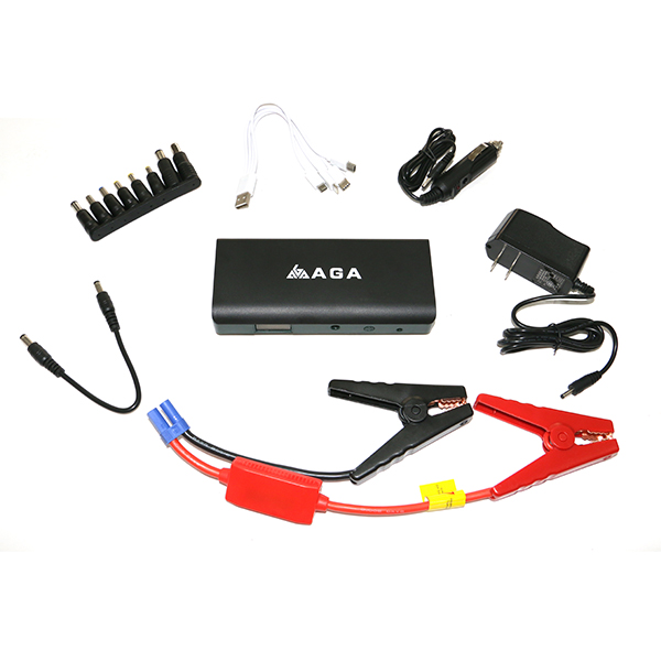 Customized 12V 16000mAh Portable Car Jump Starter Pack with Jumper Cables