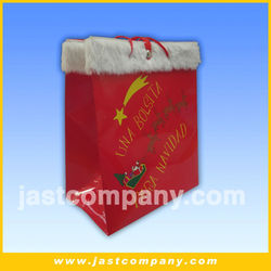 Light Up Chirstmas Gift Bags with sound, Large Size Christmas Fabric and Paper Gift Bags