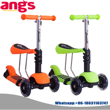 100% Aluminum Child cheap kids scooter used for games pu 3 wheel for sale