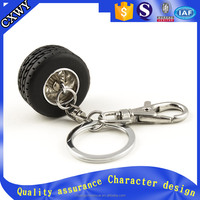 wholesale keychain cheap 3d tyre shape custom keychain