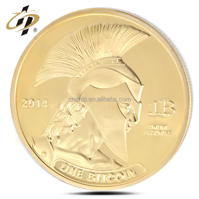 Custom 40mm military souvenir gold commemorate coin with plastic box