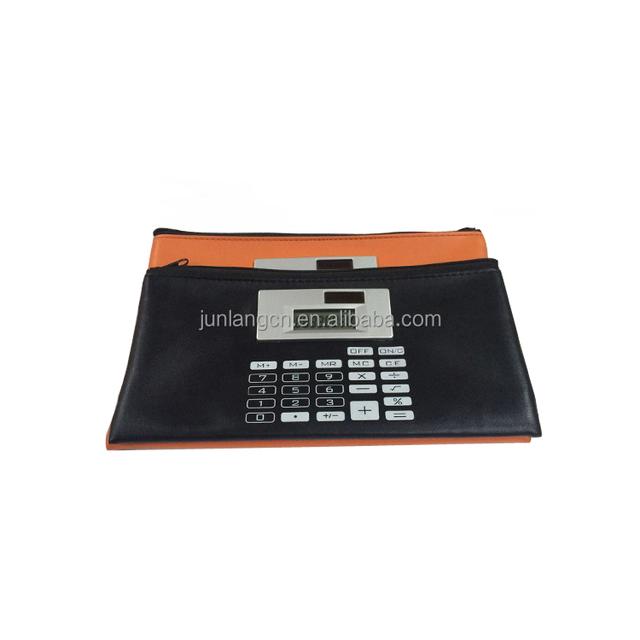 8 Digits Colorful Pen Bag Calculator Dual Power business bag calculator