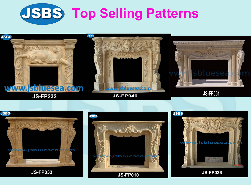 Factory Outlets Custom Carved Decorative Fireplace For Wall Decor