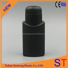 60ml PE black shampoo container screw cap