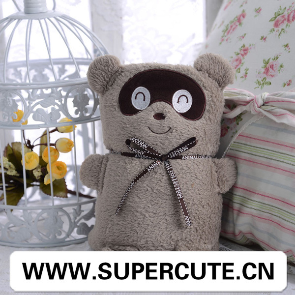 Guangzhou blanket manufacturer newly design in raccoon image