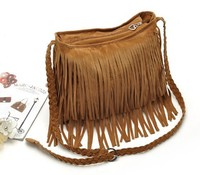 Wholesale In Stock Winter Suede Fringe Bag