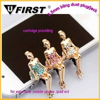 cell phone ear cap/earphone anti dust plug charm for iPhone/phone anti dust plug