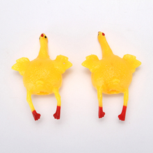 New arrival Silicone squishy toys, High quality funny soft chicken lay eggs stress release squishy toy, 3D stretchy animal toy