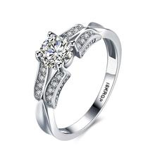 Top Quality White Rings with CZ Crystal Pave Wedding Diamond Rings