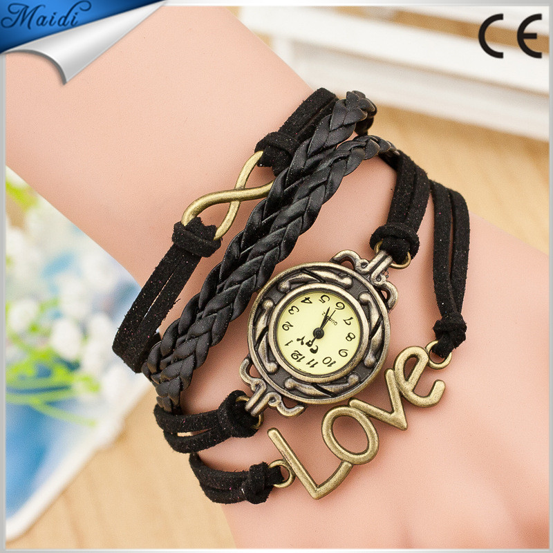 Alibaba Hot Women Handmade Cross Watch Long Strap Fashion Retro Cheap Love Wholesales Wristwatch RW012