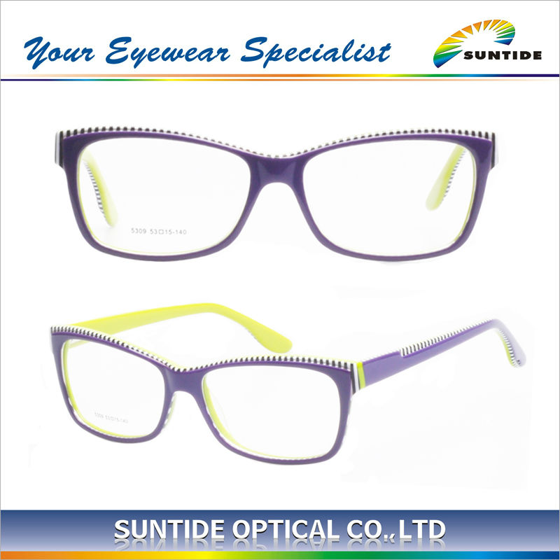 Multicolor High Quality Hot selling Acetate Eyelass Frames (5309)