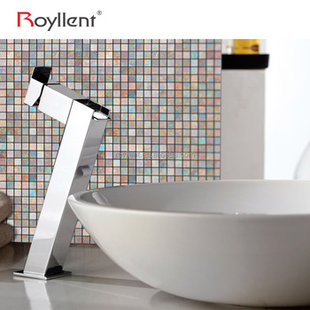 Royllent rainbow aluminum Alloy plastic mosaic wall sticker easy to install home decor