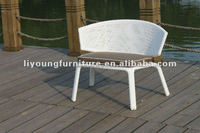 Outdoor Stacking Rattan Chair with Aluminum frame turkish furniture living room LG30-3109C