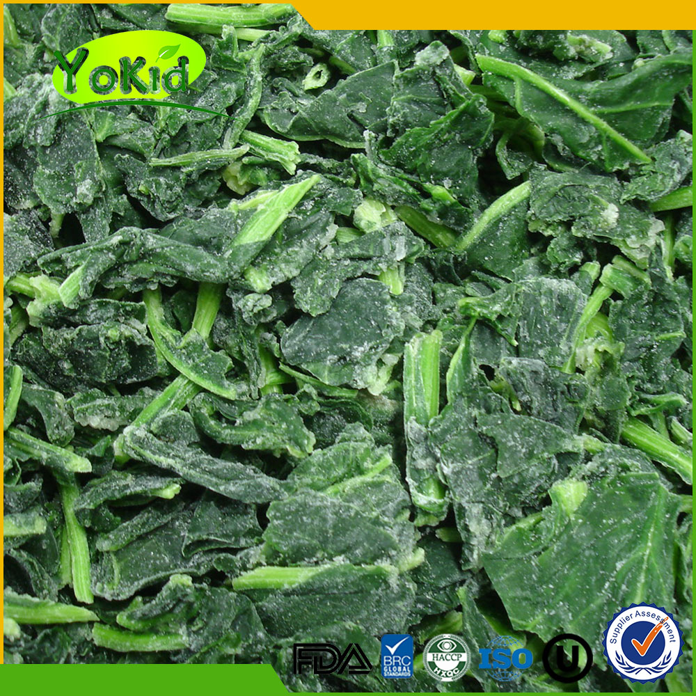 IQF Fresh Frozen Dried Spinach With Halal For Ready Meal