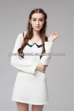 Most popular 2013 Peter Pan collar long sleeve Autumn spring korean dresses new fashion