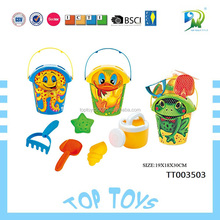 Hot Selling can OEM beach toy set safe materil ABS beach sand molds kids toys