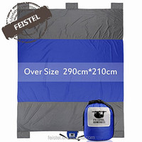 Feistel Compact Lightweight Huge Outdoor Beach Blanket Sand Proof and Made From Strong Durable Nylon, Folds into Attached Pouch